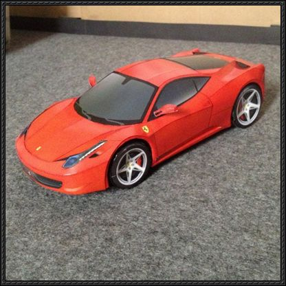 ferrari 458 paper car free vehicle paper model download. Black Bedroom Furniture Sets. Home Design Ideas