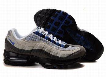 Nike Air Max 95 Mens White Dark Grey Blue Trainers UK