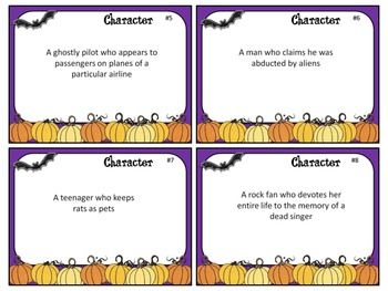 HALLOWEEN SHORT STORY STARTERS TASK CARDS (CCSS FOR GRADES 5-12) - TeachersPayTeachers.com
