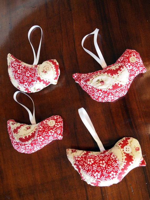 Lavender Sachet  Little Birds in Patchwork by quiosquedetrapos, $11.00