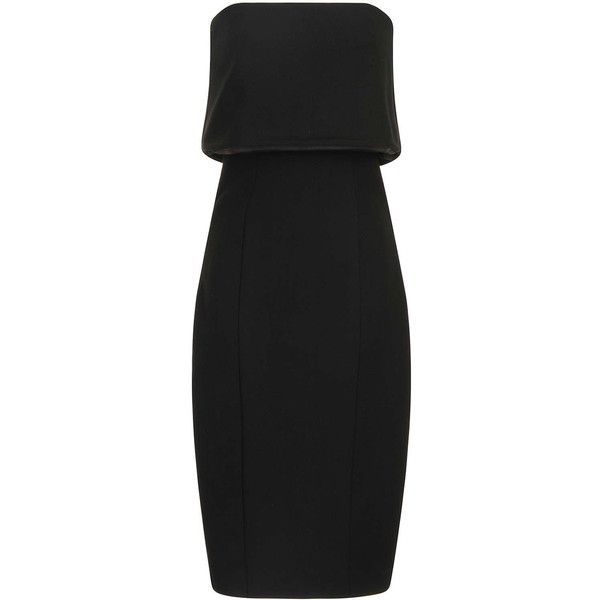 TOPSHOP **Black Bandeau Dress by Lavish Alice (125 AUD) ❤ liked on Polyvore featuring dresses, black, bandeau bikini top, topshop, black bandeau top, midi dress and bandeau tops