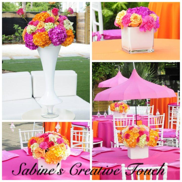 Sabine s creative touch pagoda umbrella centerpieces