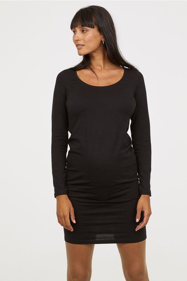 619635d29ae13 MAMA Jersey Dress | Pregnancy | Dresses, Sleeves, Black women