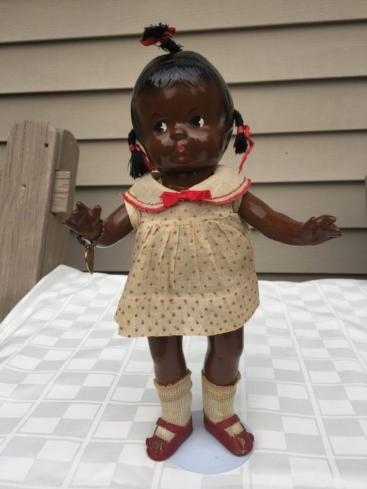 Effanbee Patsy JR. Compo. Black Doll, Ex. Cond., 1930's All Orig. #Effanbee #Dolls