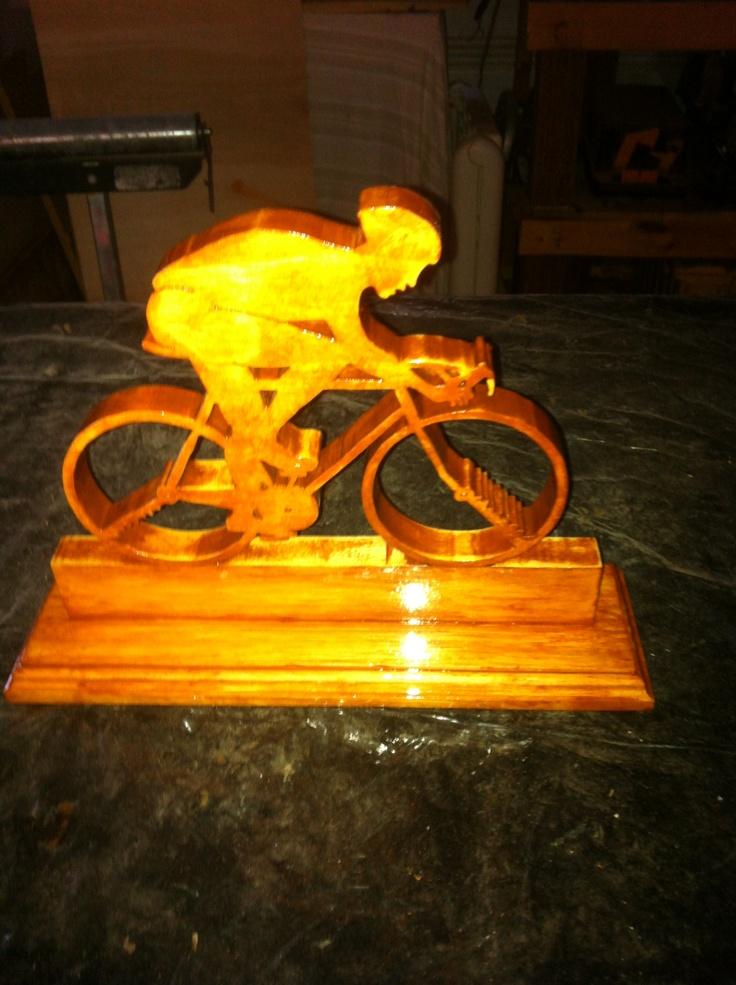 """""""Ride Like The Wind"""". This is a piece of art I made for my brother, Clay Ewing of Tell City,  since he has gotten into riding a bike for exercising.  It really came out Awesome!"""