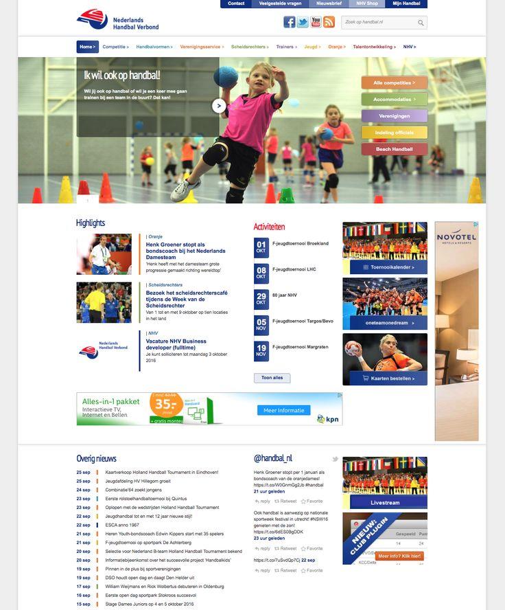Handbal.nl - website van het Nederlands Handbal Verbond; redactionele bijdrages en adviezen, wedstrijdverslagen (2010-2014)