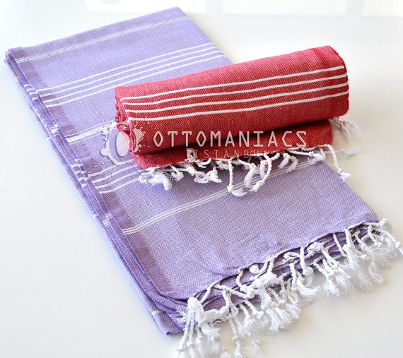 Bath Towel 2 Pcs Toalla Playera Bath Striped Cloths by Ottomaniacs