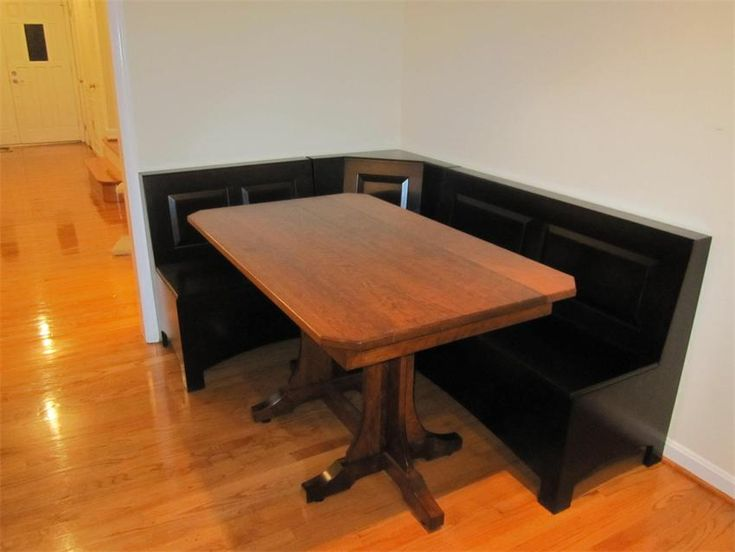 Furniture Create Warm Impression In The Dining Room With Corner Table Solid Wood Trestle Kitchen Breakfast Nook Set