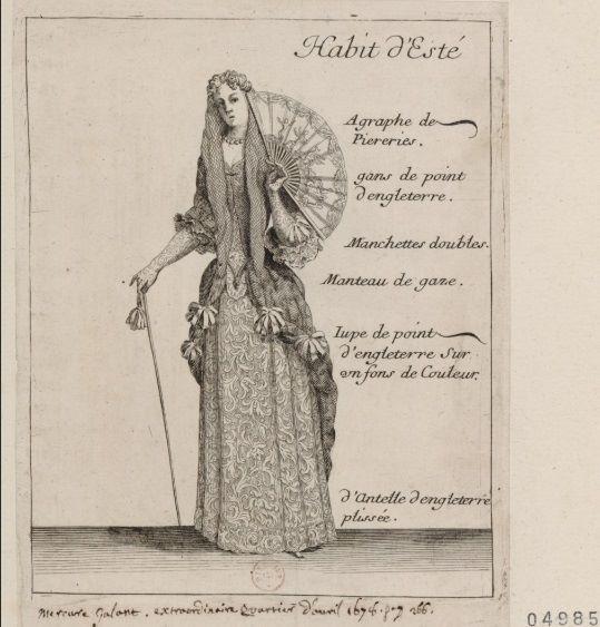 Habit d'Esté, le Mercure Galant d'avril 1678 – Paris, Bibliothèque Nationale de France