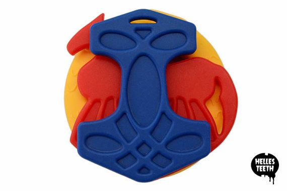 Teething for Odin viking teething toy set  soft by HellesTeeth So your baby can be a badass right from the beginning