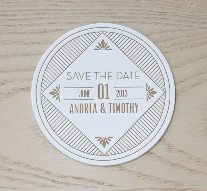 Gatsby, our 1920's inspired letter-pressed save the date!
