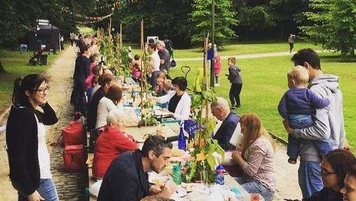 De langste picknicktafel ter wereld? Die staat deze zomer (2016) in de Plantentuin in Meise.