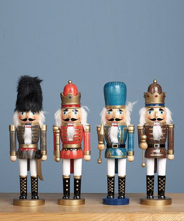 Take a look at this Medium Wood Nutcracker Soldier Set by Classic Christmas: Décor & Decorations on @zulily today!