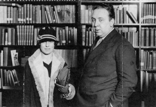 Alma Reville and Alfred Hitchcok