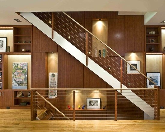 contemporary staircase carpeted staircase design pictures remodel decor and ideas page 8 - Staircase Design Ideas