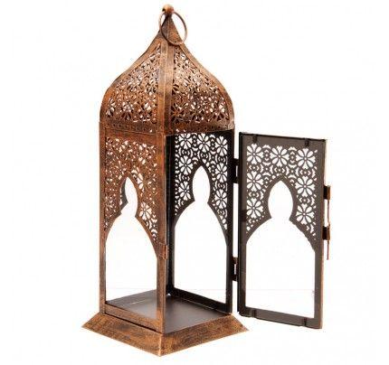 Marokkaanse stijl Lantaarn met metaalwerk