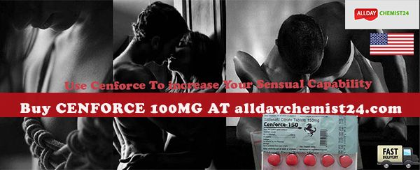 Enhance your sexual interest during sex with cenforce 100mg. you can buy cenforce 100mg Sildenafil online from alldaychemist24.com at the modest cost