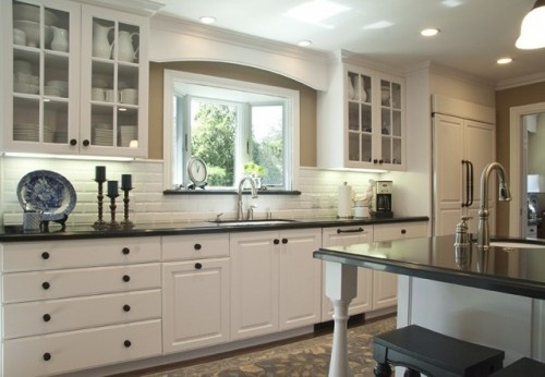 Love The Wood Trim Over The Sink Window Kitchen Design