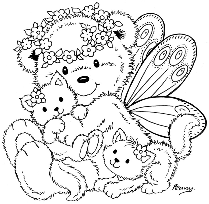 Fairy Bear Colour It Sew Trace Etc