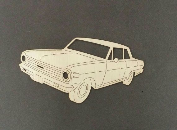 1965 Chevrolet NOVA voiture Sticker bois de par ChildersWoodWorks