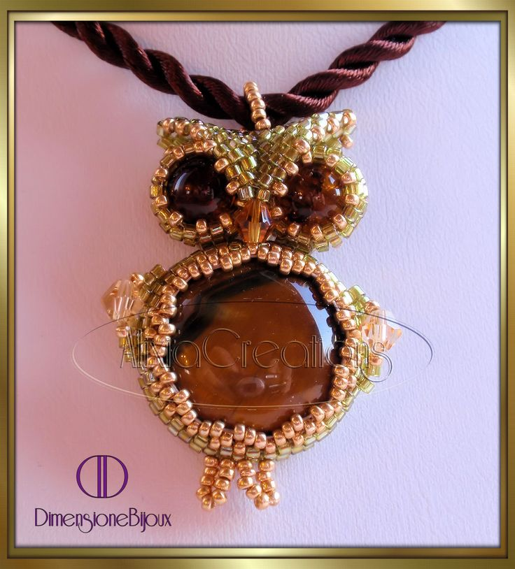 OWL WITH EYE OF THE CAT  www.alixiacreations.blogspot.com