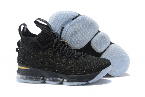 Nike LeBron 15 Black and Metallic Gold For Sale  5fd799a0a