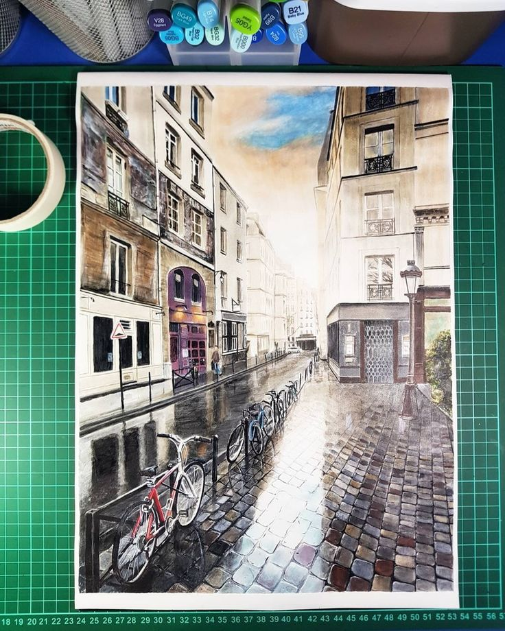 Street in Paris? Drawings of Architecture and Interior Design. By Glenn Geraldi.