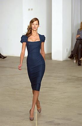Navy blue dress, Roland Mouret - just love the shape of this dress. Need to find something similar for SK wedding. -FF