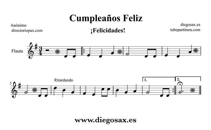 Partitura para Flauta