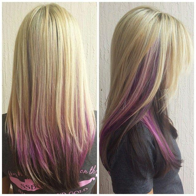best 25 purple underneath hair ideas on pinterest dyed