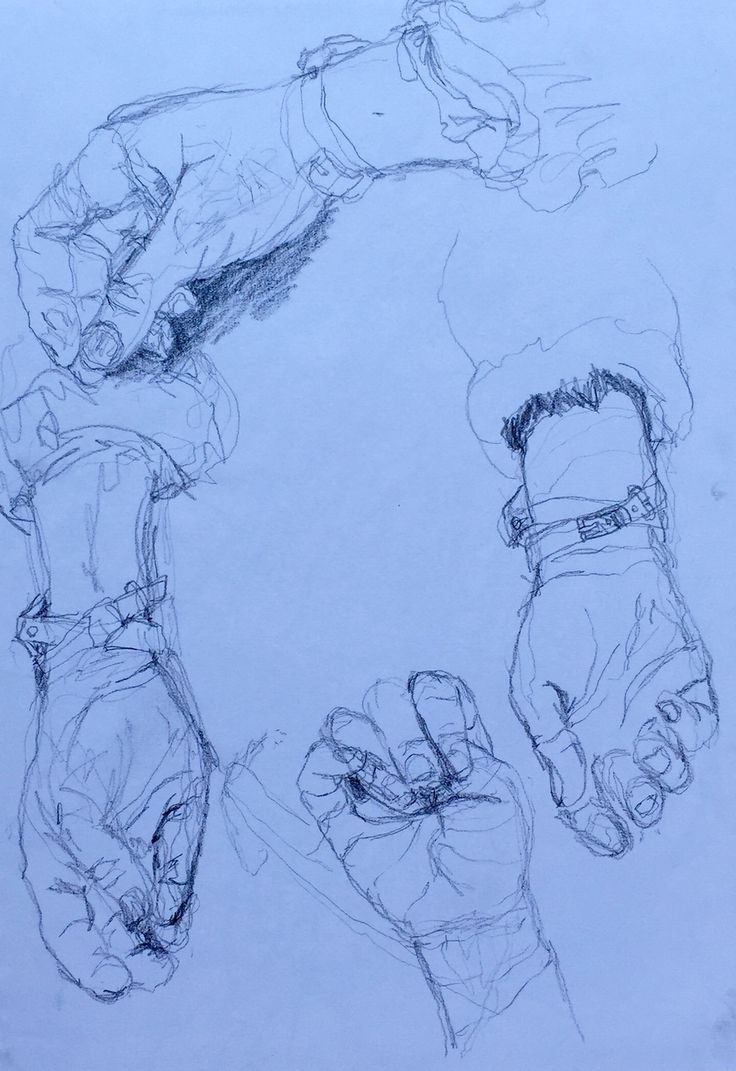 Learning to draw with my non-dominant left hand, so these are sketches of my right hand.