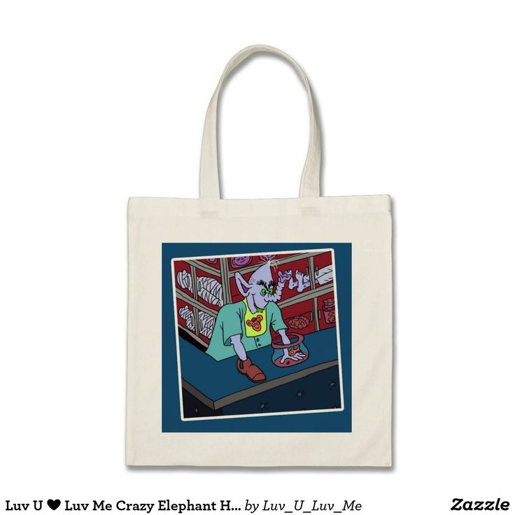 Luv U ❤️ Luv Me Crazy Elephant HaLLowEEn Bag