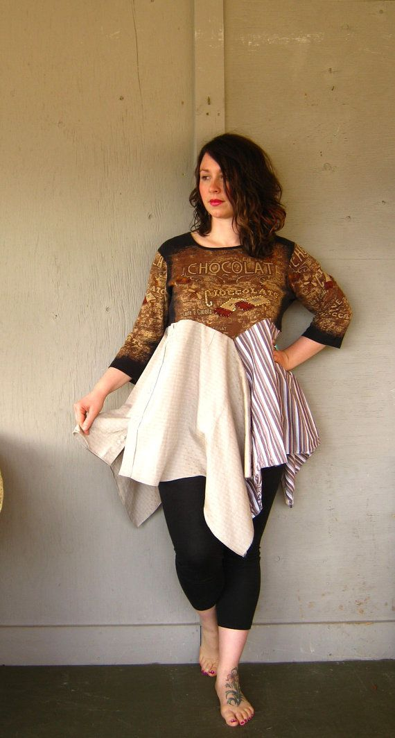 Bohemian Lagenlook dress Funky tunic by lillienoradrygoods on Etsy