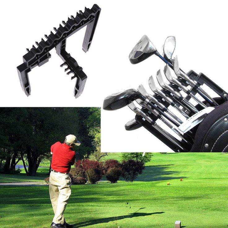 Golf 9 Iron Club ABS Shafts Holder Stacker Fits Any Size of Bags Organizer Golf Products Accessories Black Golf Holder