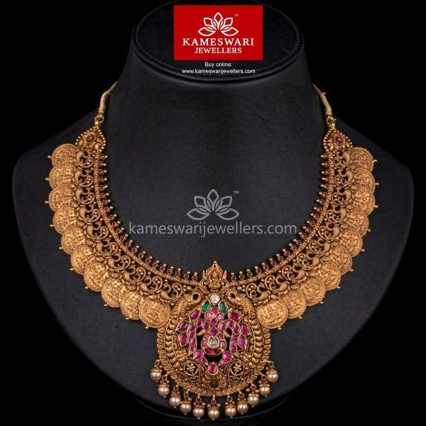 Heritage Lakshmi Kasu Necklace