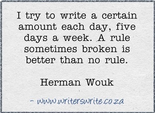 A rule sometimes broken is better than no rule. Love it!