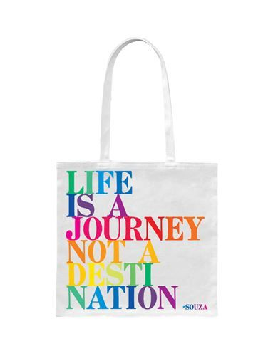 """Tote Bag - """"Life is a journey not a destination"""" - at Evans & Hall"""
