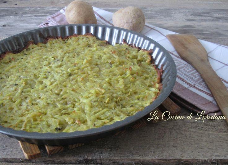 Una ricetta semplice e veloce da preparare: Torta di patate alla trentina, ottima come contorno e deliziosa con formaggi e salumi
