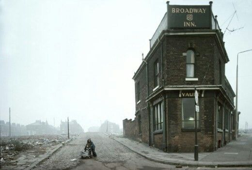 Nearly gone, Salford, Manchester, England, United Kingdom, 1970-79, photograph by John Bulmer.