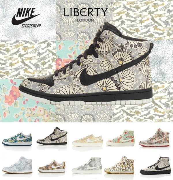 Liberty Print Nike Trainers, my have print on my have shoe.