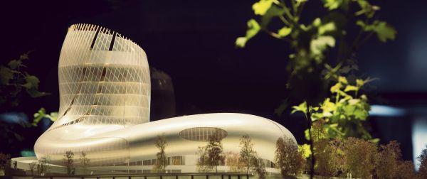 """#ccv - Cité des civilisations du vin : """"Ni un musée, ni un parc à thème mais un projet unique"""". Un beau projet en cours ....   Image, pose de la première pierre"""