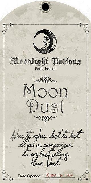 ╰☆╮Apothecaries Labels, Moon Dust, Potion Labels, Bottle Labels, Halloween Labels, Ingredients Labels, Halloween Printables, Moondust, Halloween Ideas