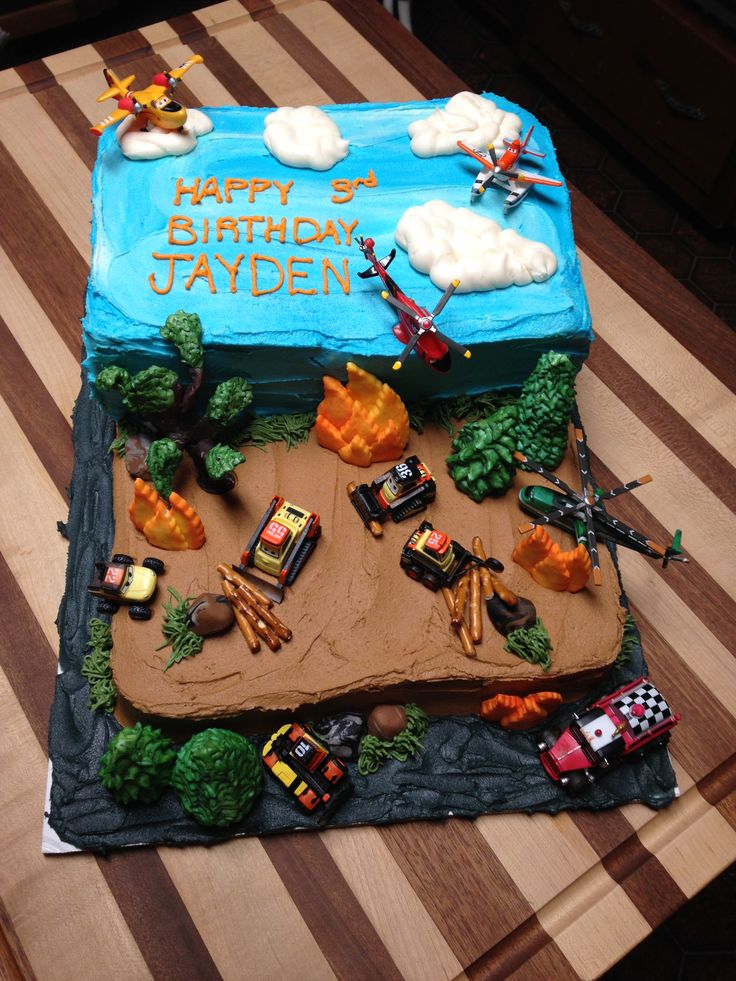Planes Fire and Rescue Birthday Cake.