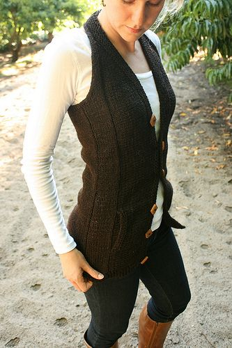 Cute.  Knitted vest pattern - definitely want to try this one.