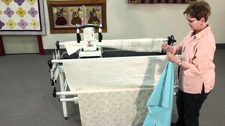 attaching fabric to a metal Grace Quilting Frame