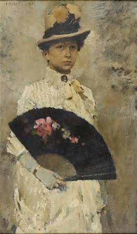 Retrato de senhora por Columbano