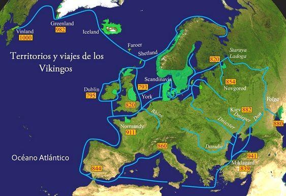 Vikingos Ubicacion Geografica Y Expansion Vikingos Geografia E