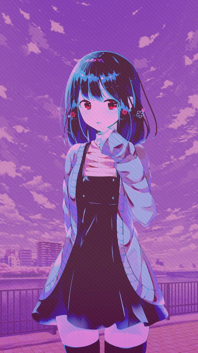 Just a collection of anime profile pics and icons that you could use for your profile. Pin by butterfree_charm on Cute   Purple anime, Purple ...
