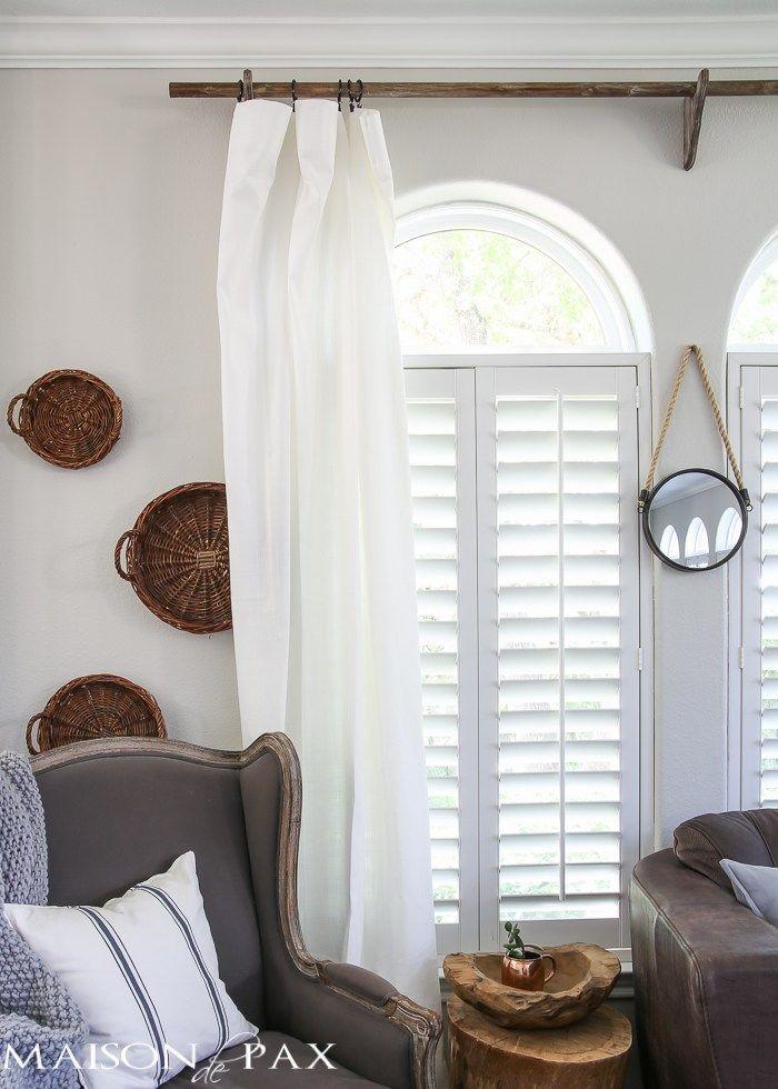 11 Farmhouse Decor Ideas You Can Diy Farmhouse Style Curtains