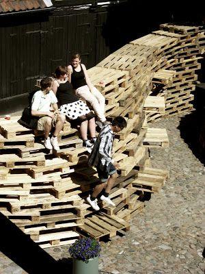 Pavillon faite de palettes par les étudiants de l'École d'architecture d'Aarhus3
